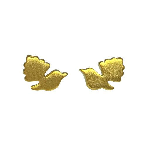 Gold Plated Sterling Silver Fantail Earrings