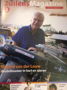 Met op de voorpagina modelbouwer Gerard van der Louw