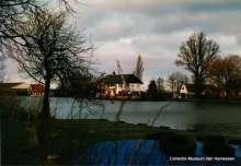 Weteringpad herstel van de beschoeiing bij Huis Ter Aa januari 1988 Noord Oost
