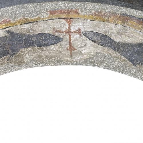 Resultado de imagen de Peces flanqueando una cruz de Santa Maria de Taüll