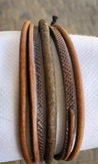 LD 10 Brown Leather Bracelet