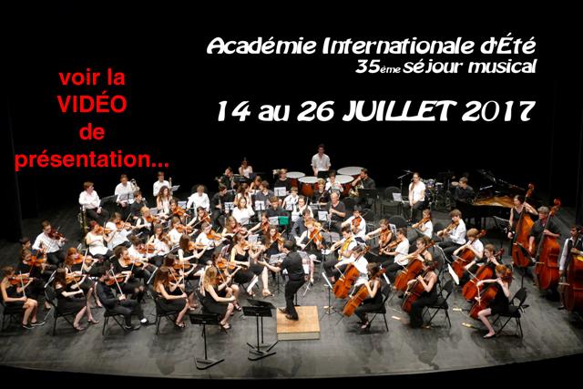 Vidéo de présentation de l'Académie Internationale d'Été de Château-Gontier du 14 au 26 juillet 2017