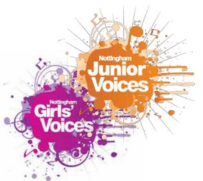 Nottingham Junior & Girls' Voices: School years 3 - 8
