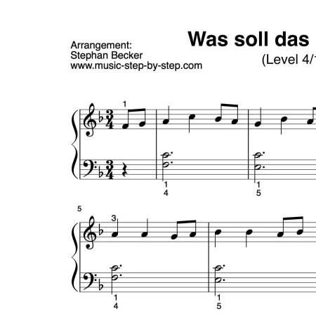 """""""Was soll das bedeuten"""" für Klavier (Level 4/10)"""