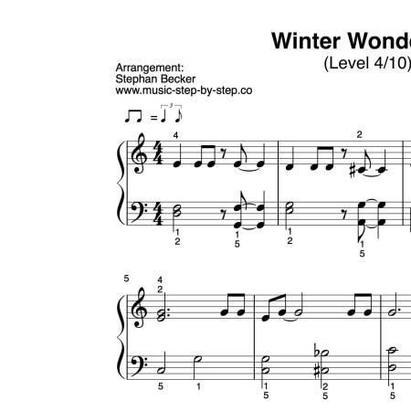 """""""Winter Wonderland"""" für Klavier (Level 4/10)"""