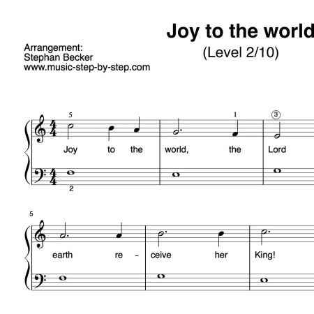 """Joy to the world"" für Klavier (Level 2/10) 