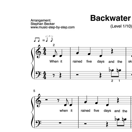 """Backwater Blues"" für Klavier (Level 1/10) 