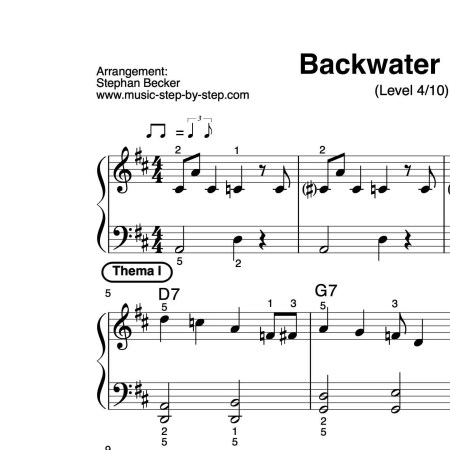 """Backwater Blues"" für Klavier (Level 4/10) | inkl. Aufnahme, Text und Solo music-step-by-step"