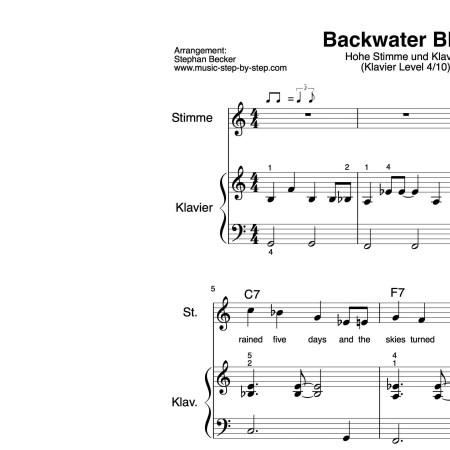 für hohe Stimme und Klavier, Schwierigkeitsgrad Klavier Level 4, mittelschwer, inklusive Fingersätze, Auszüge der Stimmen, Noten als pdf, Audio als mp3, Text als pdf