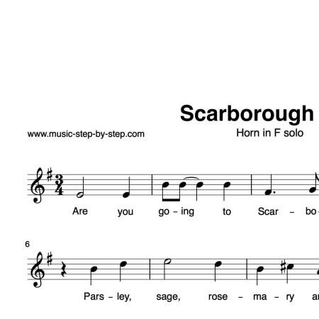 """""""Scarborough Fair"""" für Horn in F solo   inkl. Aufnahme und Text music-step-by-step"""