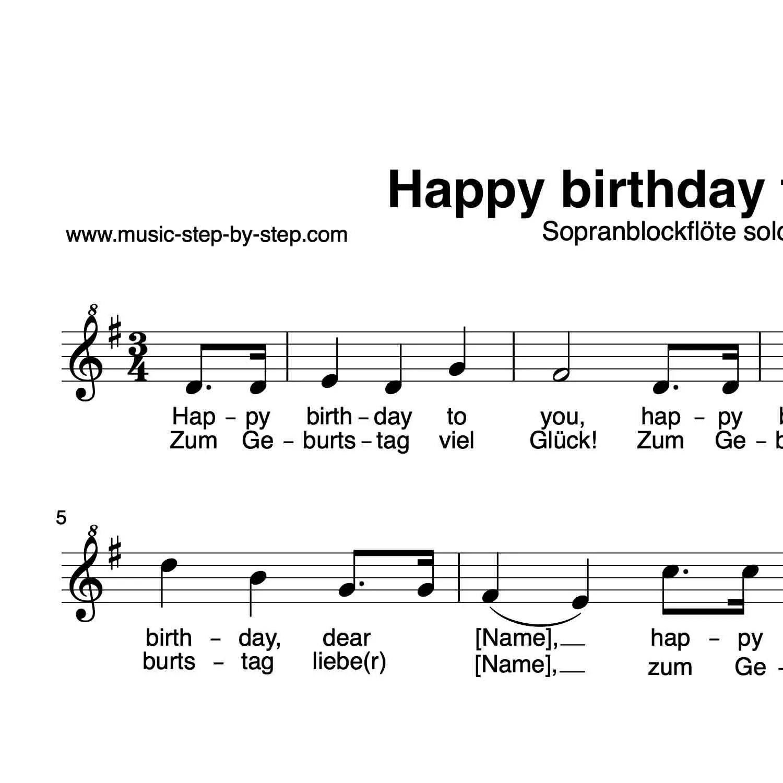 Happy Birthday To You Blockflote Aufnahme