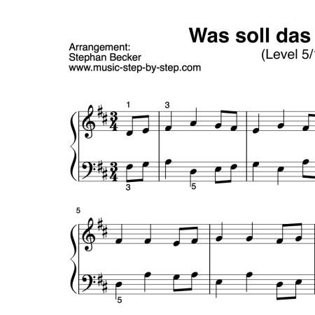 """""""Was soll das bedeuten"""" für Klavier (Level 5/10)   inkl. Aufnahme und Text music-step-by-step"""