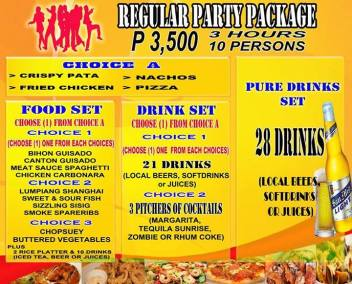 Pasay Branch Promo Regular Party Package