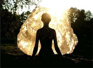Ragazza in meditazione