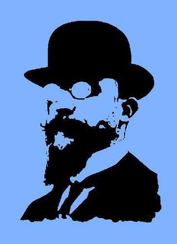 Erik Satie con bombetta