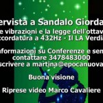 Video intervista sull'accordatura a 432 Hz di Giordano Sandalo