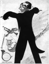 Juan José Castro, caricatura de 1963