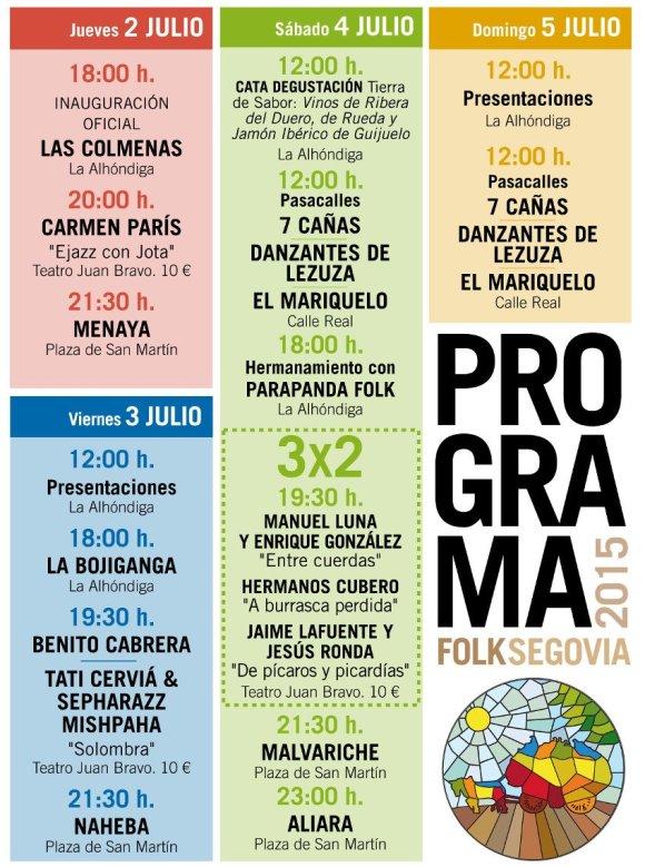 Programa del Folk Segovia