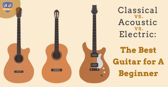 Classical Vs Acoustic Vs Electric The Best Guitar For A Beginner Musical U