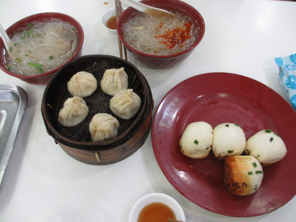 Dumpling and noodle lunch in Shanghai
