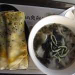 Breakfast at foodcourt, Shanghai Pudong International Airport