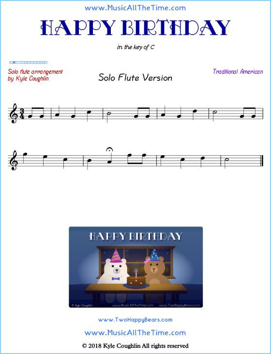 Happy Birthday Flute Sheet Music