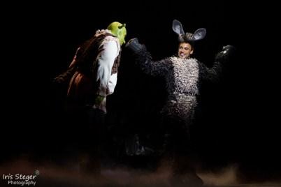 Andreas Lichtenberger als Shrek und Andreas Wolfram als Esel