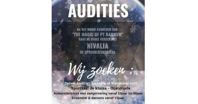 VC Stage houdt audities voor Nivalia