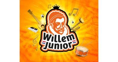 Frank Snoeks als sportverslaggever in Willem Junior