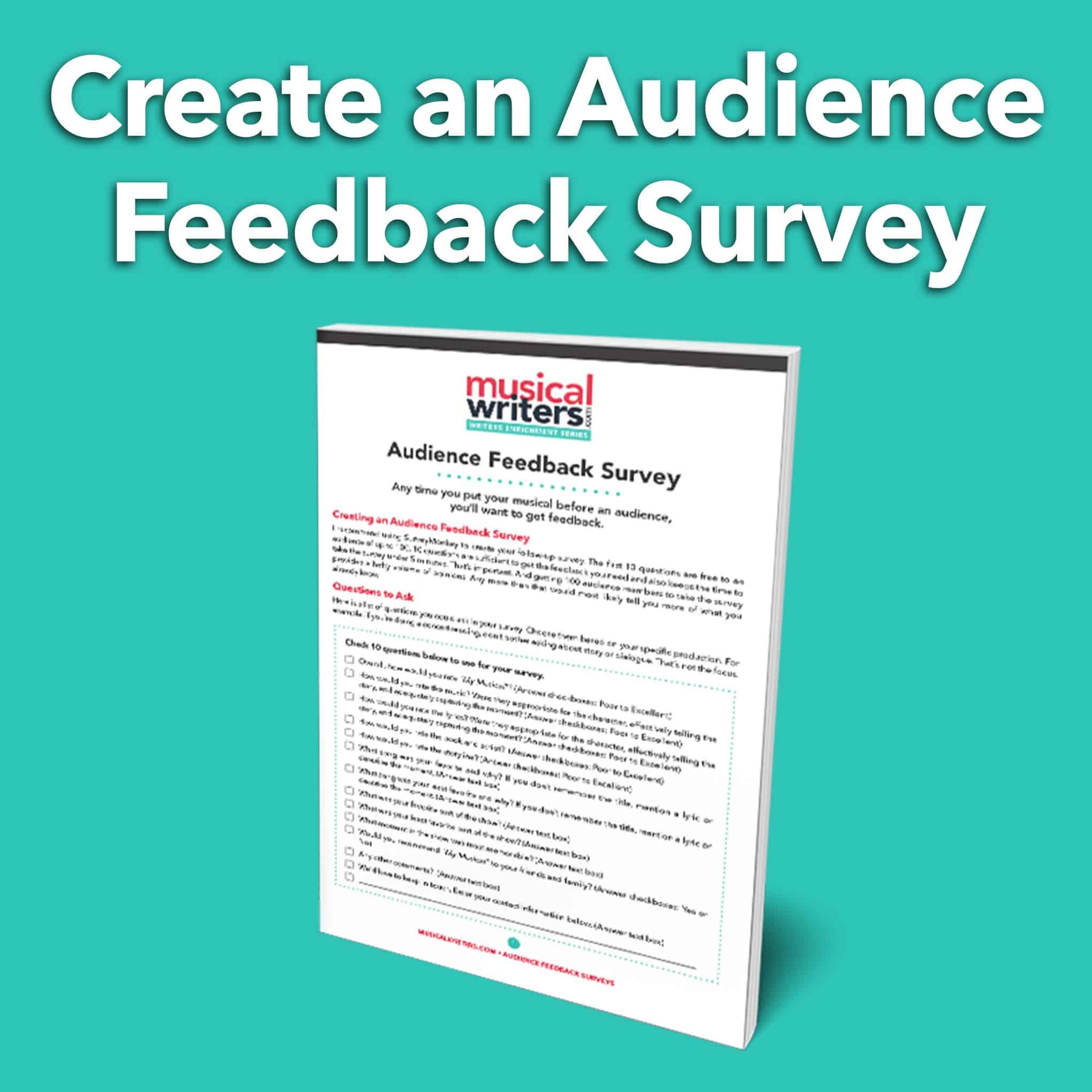 Creating an Audience Feedback Survey Worksheet
