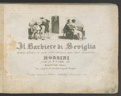 Frontespizio Barbiere di Siviglia