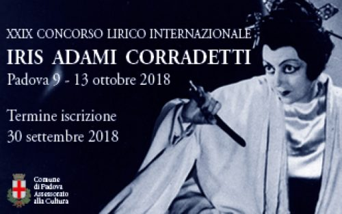 """Concorso Lirico Internazionale """"Iris Adami Corradetti"""""""