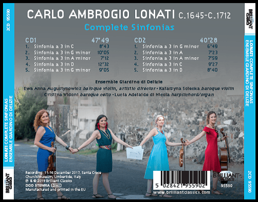 Ensemble Giardino di Delizie - Lonati cd retro