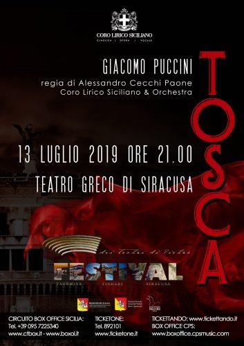 Festival dei teatri di pietra- TOSCA- SIRACUSA 2019