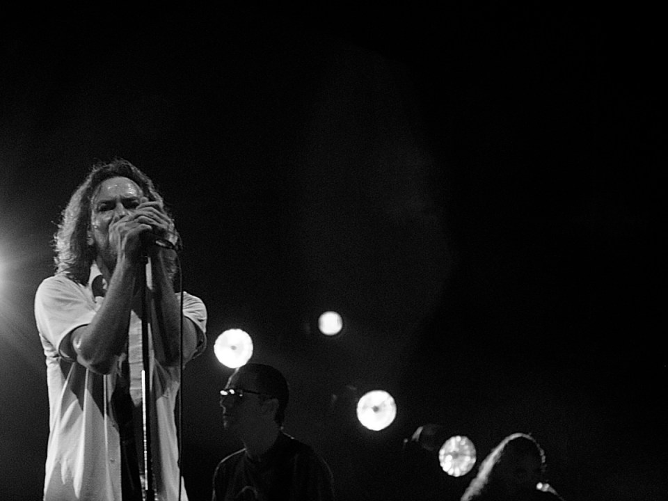 Pearl Jam in a concert
