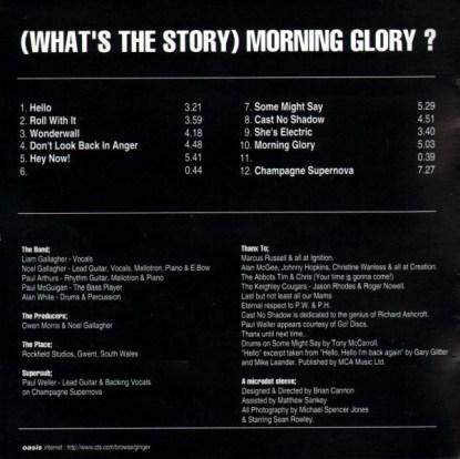 Listado de canciones de What's the story... de Oasis