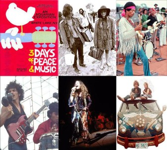 Interior de Woodstock 3 days of peace