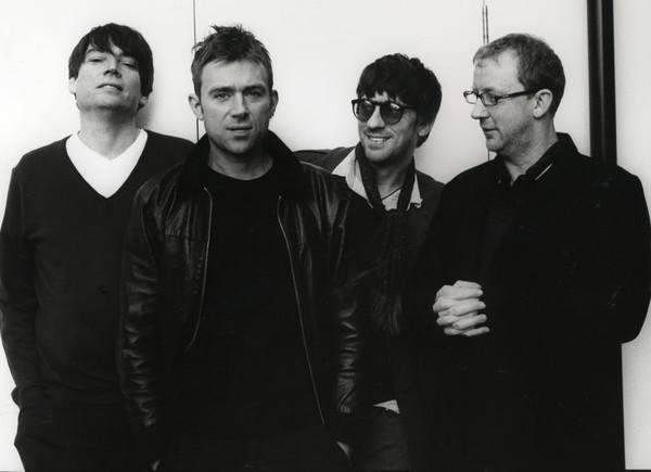 Imagen promocional del grupo Blur