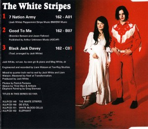 Interior sencillo White Stripes