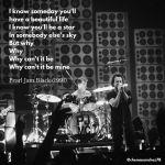 Tip de instagram con la letra de Black de Pearl Jam