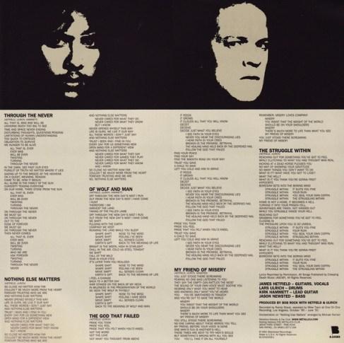 Letras del Black Album II