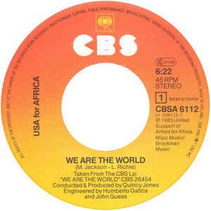 Single de We are the world