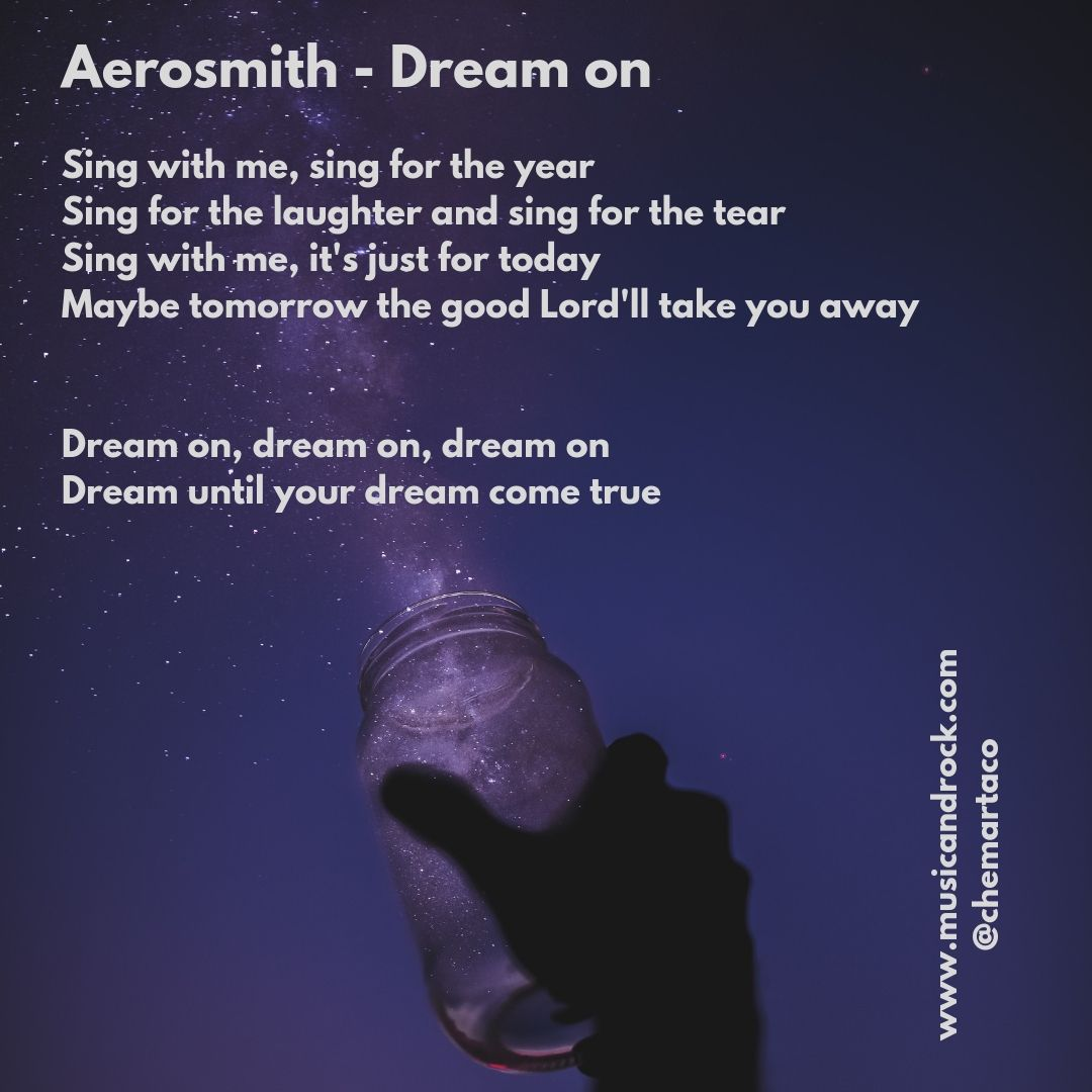Letra Tip instagram Dream on de Aerosmith
