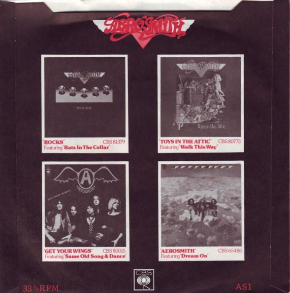 Reedición del álbum Aerosmith. Interior