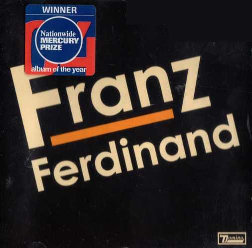 Portada de Franz Ferdinand con el distintivo del Mercury Prize