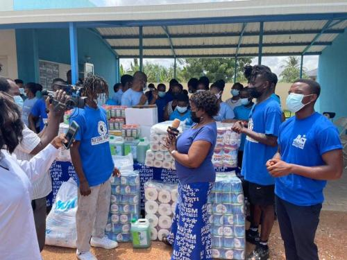 Rapper Kofi Mole Spends His Birthday With Children With Autism In Accra