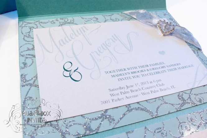 Tiffany And Co Blue Musical Singing Wedding Invitation With
