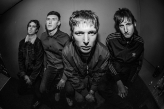 Black and white photo of the band Twisted Wheel