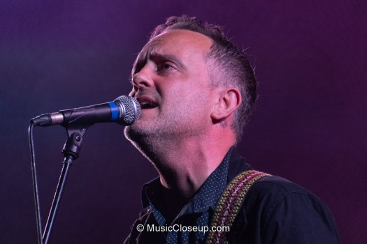 Close-up of Dave Hause singing