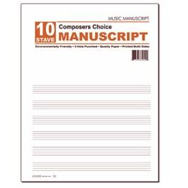 10 Stave Manuscript Pad